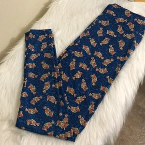 LuLaRoe blue fish 🐟 🐠 🐟 leggings one size